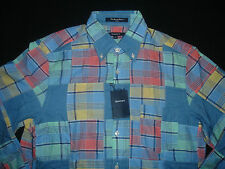Gant Men's Partchwork Madras Multicoloured Shirt - Size M  BNWT