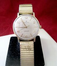 MENS VINTAGE HAMILTON AUTOMATIC A-652 WADSWORTH CASE WATCH RUNS GREAT