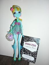 MONSTER HIGH DOLL LAGOONA BLUE 13 WISHES WITH DIARY PET AND BAG DISPLAY ONLY