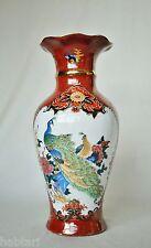 Grand vase avec paons régnaient + palais Femmes-décor multicolore en Asia-style Décoration