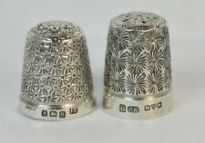 2 x Sterling Silver Thimbles including Charles Horner Example