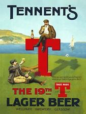 Tennent's Lager Beer, Golf 19th Hole, Pub Bar & Restaurant, Large Metal/Tin Sign
