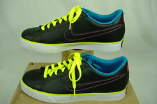 """New Womens 9.5 NIKE """"Sweet Classic Leather"""" Black Blue Party Shoes $65"""