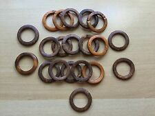 Coconut Linking Ring Connector Wood Round 35mm Orange 20pcs Free Ship