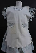 VICTORIAN TURN OF CENTURY CHILD'S PINAFORE DRESS W HAND EMBROIDERY