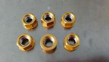 Gold Anodised Sprocket Nut Set for Kawasaki Z 1000 from 2003- 2014