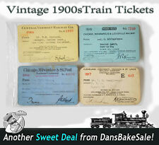 Vintage Railroad Train Tickets 1916 & 1917 Chicago Milwaukee St. Paul St. Louis