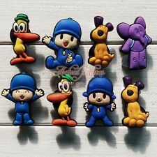 8Pcs Adorable Pocoyo Shoe Bracelet Charms Cake Toppers Party Favours