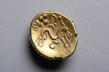 Ancient Ambiani Celtic Gold Gallic War Stater Coin - 58 Bc