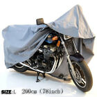 OUTDOOR MOTORCYCLE WATERPROOF MOTORBIKE STREET SCOOTER RAIN VENTED BIKE COVER L