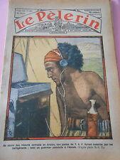 Combats en Arabie des postes de T.S.F. guerrier Yéménite Dessins Print 1934
