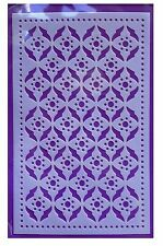 Flexible Stencil *RETRO PATTERN* Embossing, Pricking, Card Making - 9 x 14.5cm