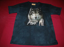 15-1854 LARGE UNISEX CHILDS WOLF HUNTING PACK THE MOUNTAIN T-SHIRT