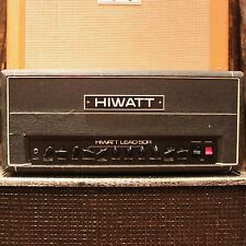 Vintage 1980s Hiwatt L50R Lead 50 50R Reverb Head Valve Amplifier SERVICED