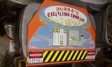 bubba's excavation arcade redemption coin pusher metal sign
