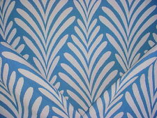 1-3/4Y  LEE JOFA AEGEAN BLUE / WHITE PACIFIC IKAT DRAPERY UPHOLSTERY FABRIC