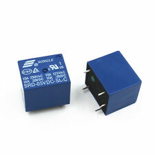 10pcs Mini 5V DC SONGLE Power Relay SRD-5VDC-SL-C PCB Type NEW