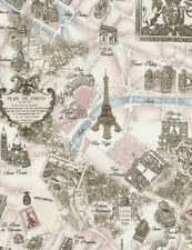 Timeless Treasures Tres Jolie France Paris Map Fabric