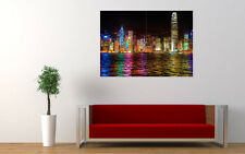HONG KONG COLORFULNESS NEW GIANT LARGE ART PRINT POSTER PICTURE WALL