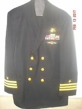 US Navy Service Dress Blue.CDR/O5. Special Warfare(Seal/Trident) And Submariner.