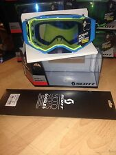 SCOTT PROSPECT GOGGLES  BLUE/YELLOW BLUE CHROME+ SPARE LENS + 10 X GENUINE T/OFF