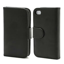 wholesale joblot iphone 4 4s leather wallet case holder job lot black
