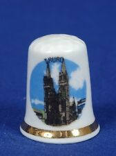 Truro Cathedral Consecrated 1887 China Thimble B/112