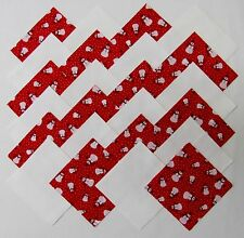"""40 4"""" TINY SNOWMEN Fabric Quilt Squares Quilting Snowman Christmas Snow Red Kit"""