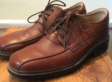 Clarks Flex 24 ~ soft tan brown leather comfortable lace-up shoes worn twice 8.5