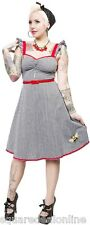 130101 Gingham Bee Mine Dress Sourpuss Retro Rockabilly Pin-up Cute Medium NEW
