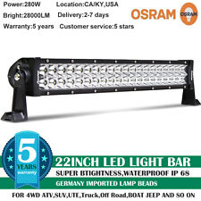 22inch 280W OSRAM COMBO LED Work Light Bar Offroad Driving Lamp SUV Car Boat 20