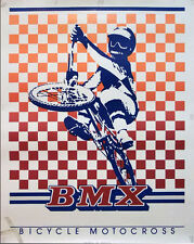 Vintage 1984 Rare, BMX Designs Bicycle Motocross Poster, 22.5 x 28