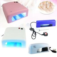 9W 36W White/Pink UV Gel Curing Lamp Timer Light Nail Dryer Art Manicure Light
