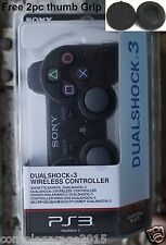 PS3 Controller Black New Wireless DualShock 3 Sony Playstation + Free Gifts RC
