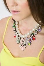 Statement Necklace New Flower Embellish Necklace Pendant Fashion Style Jewelry