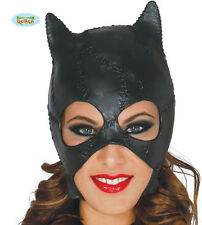 Leather Look Cat Woman Masquerade Mask Halloween Catwoman