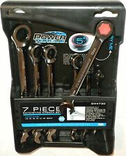 GM Goodwrench GM4730 7 Pc 8mm to 18mm Metric Combination Ratchet Wrench Set