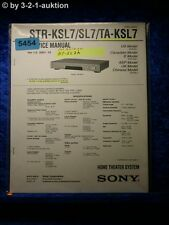 Sony Service Manual STR KSL7 /SL7 /TA KSL7 Home Theater Sytem (#5454)