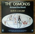 RARE THE OSMONDS AROUND THE WORLD LIVE IN CONCERT 2 LP RECORD LP VG++/NM pop