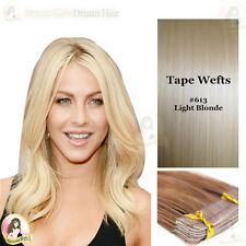 EUROPEAN TAPE/SKIN WEFT Remy Human Hair Extensions #613 Light  Blonde 24'' 20pcs