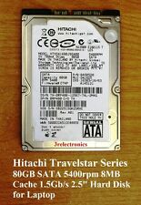 "Seagate, Hitachi, Toshiba 80GB SATA 5400rpm 8MB 1.50Gb/s Int 2.5"" Hard Drive"