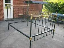 ANTIQUE IRON AND BRASS DOUBLE BED