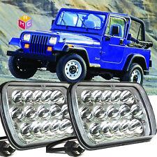 2pc LED Headlights Headlamp Upgrade Hi/Lo Beam fit Jeep Wrangler YJ 1987-1995