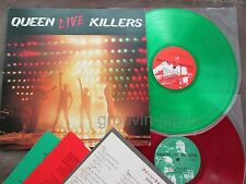 QUEEN Live Killers JAPAN 2LP SET RED & GREEN COLORED VINYL w/INSERT P-5567/8