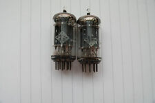 Telefunken Germany 12AX7 ECC83 smooth plate diamond base matched pair tubes
