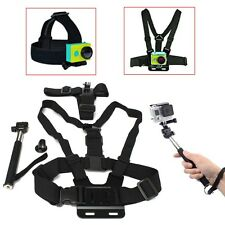 Chest Head Mount Handle Monopod Accessories For GoPro Hero 2 3+ 4 Session Camera