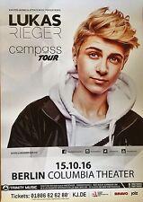 LUKAS RIEGER  2016  BERLIN  - orig.Concert Poster -- Konzert Plakat  A1 NEU