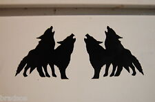 2 wolves tribal Left - right decal vinyl sticker car truck bumper laptop window