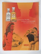 2005 Print Ad 1800 Tequila ~ A Little Bit Older a Whole Lot Bolder Trench Flash