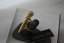 Rachel Zoe Gold tone Cone Crystal Band Ring Size 6.5